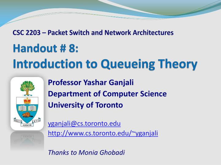 handout 8 introduction to queueing theory n.