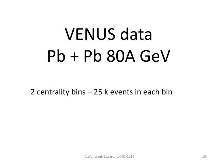 VENUS data