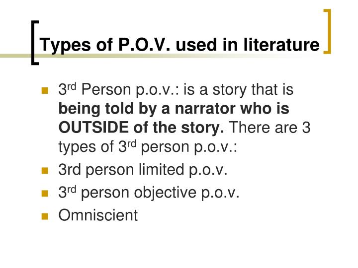 Types of p o v used in literature1