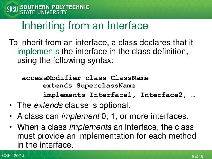 Inheriting from an Interface