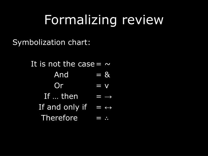 Formalizing review