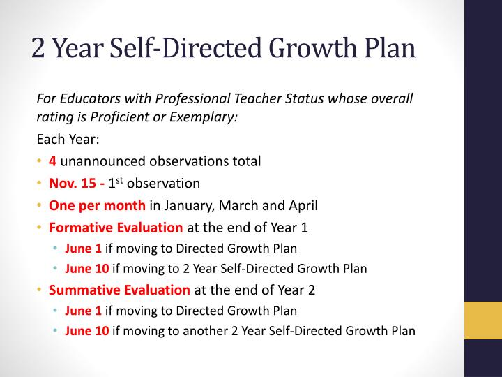 2 Year Self-Directed Growth Plan