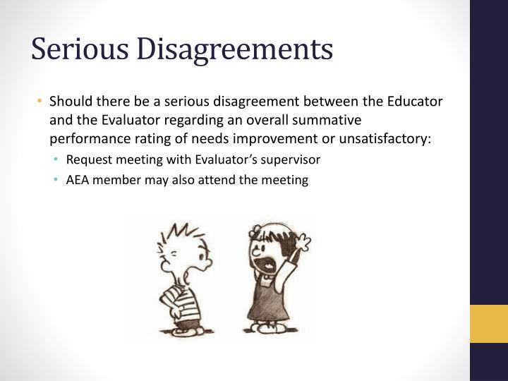 Serious Disagreements
