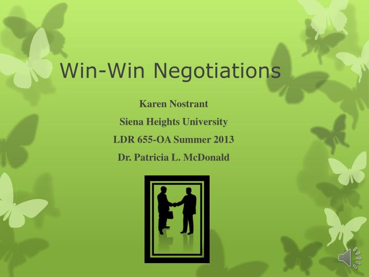 win win negotiations n.