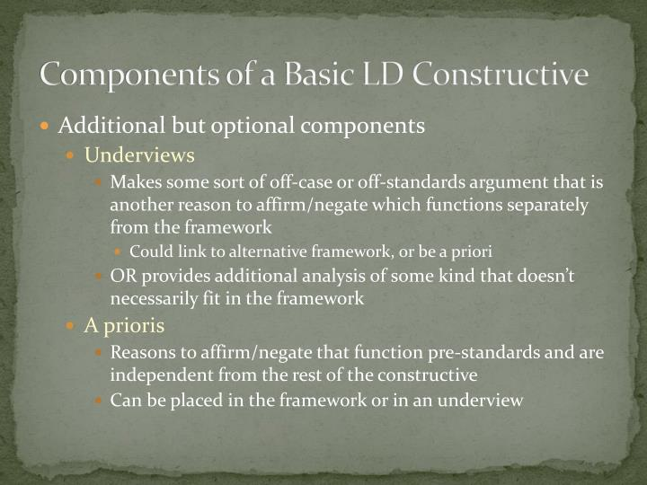 Components of a Basic LD Constructive