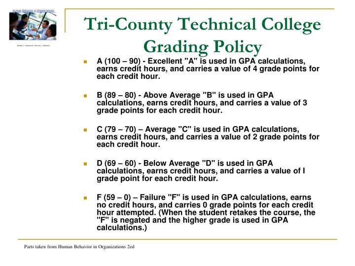 Tri-County Technical College Grading Policy