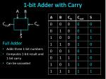 1 bit adder with carry1