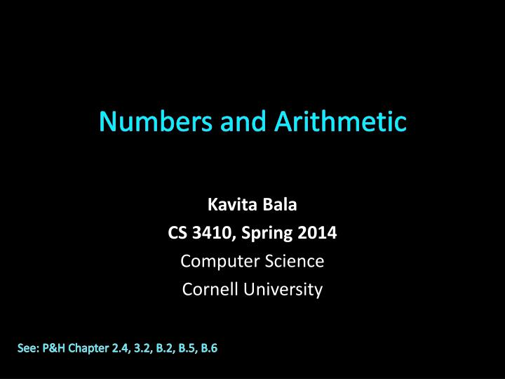 numbers and arithmetic n.