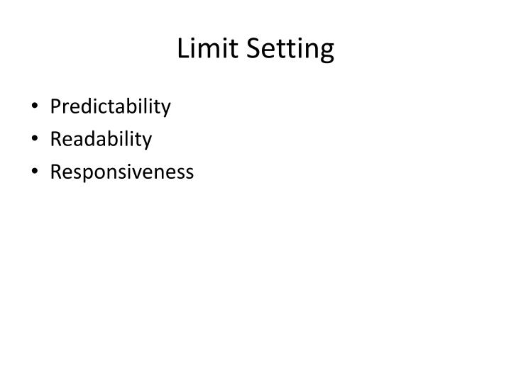 Limit Setting