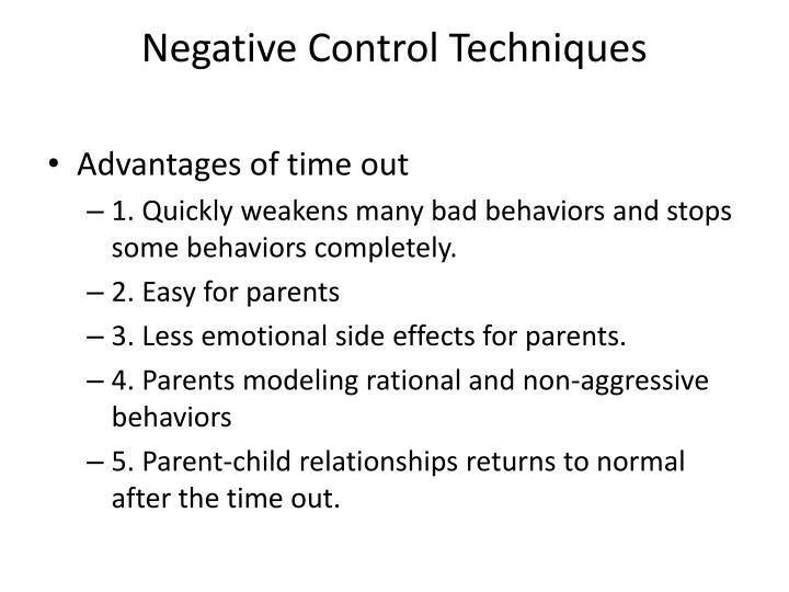 Negative Control Techniques