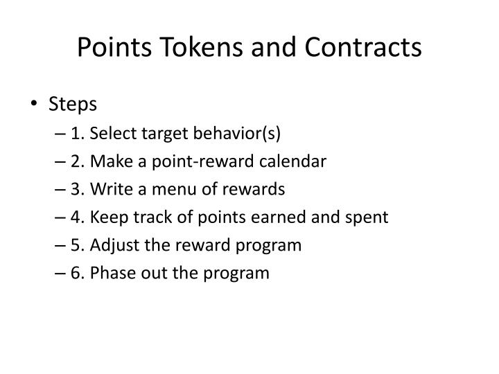 Points Tokens and Contracts