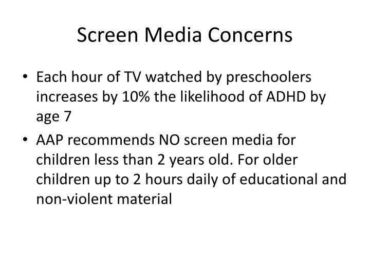 Screen Media Concerns