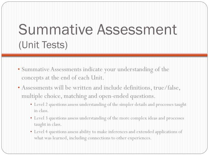 Summative Assessment