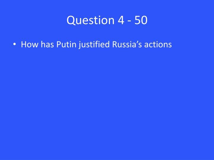 Question 4 - 50