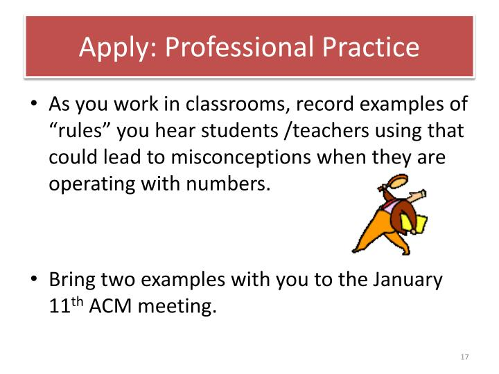 Apply: Professional Practice