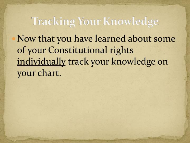 Tracking Your Knowledge