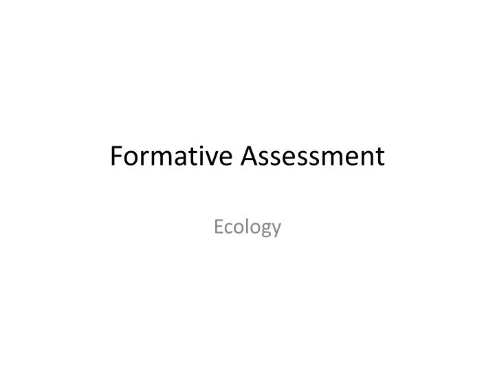 formative assessment n.