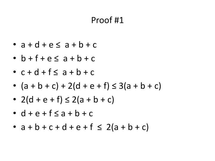 Proof #1