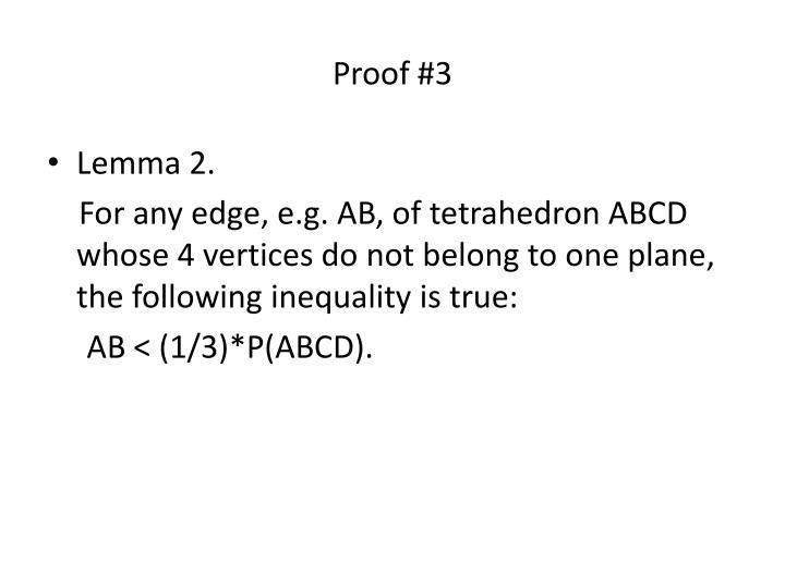 Proof #3