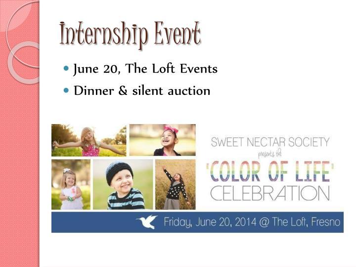 I nternship event