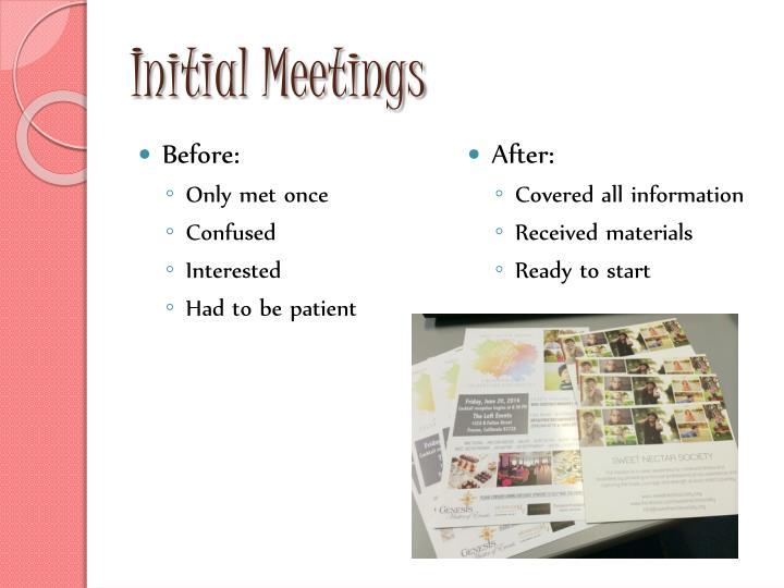 Initial Meetings