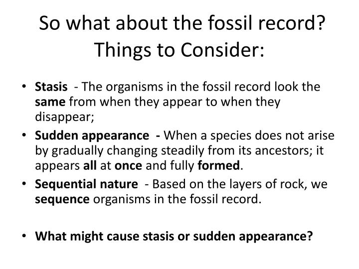 So what about the fossil