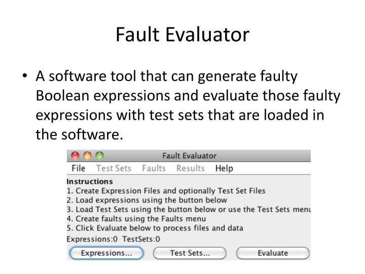 Fault Evaluator
