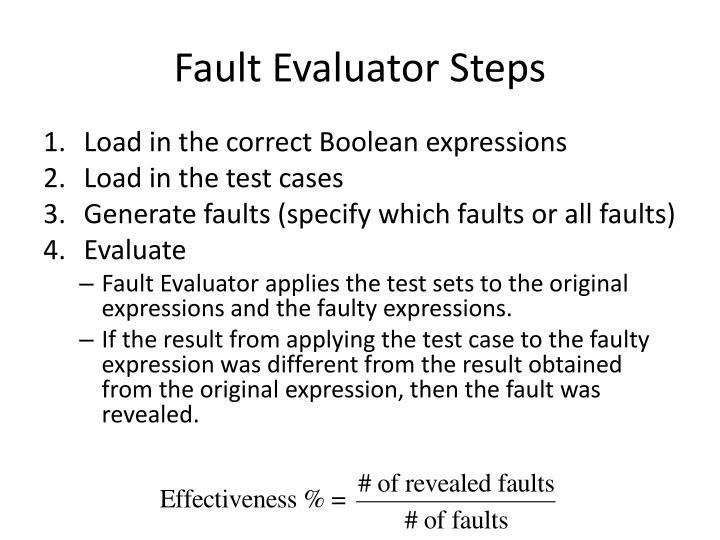 Fault Evaluator Steps