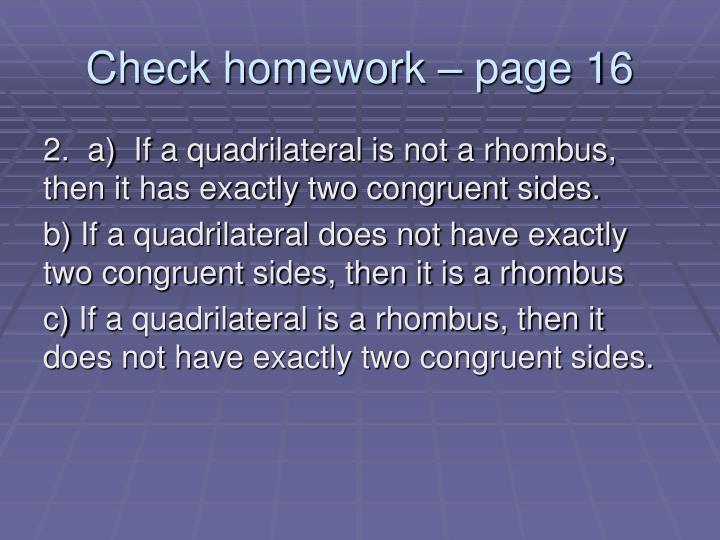 Check homework page 161