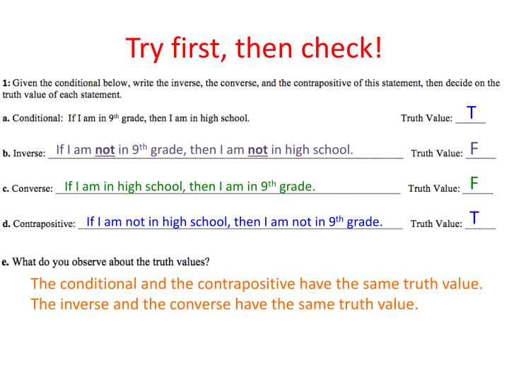 Try first, then check!