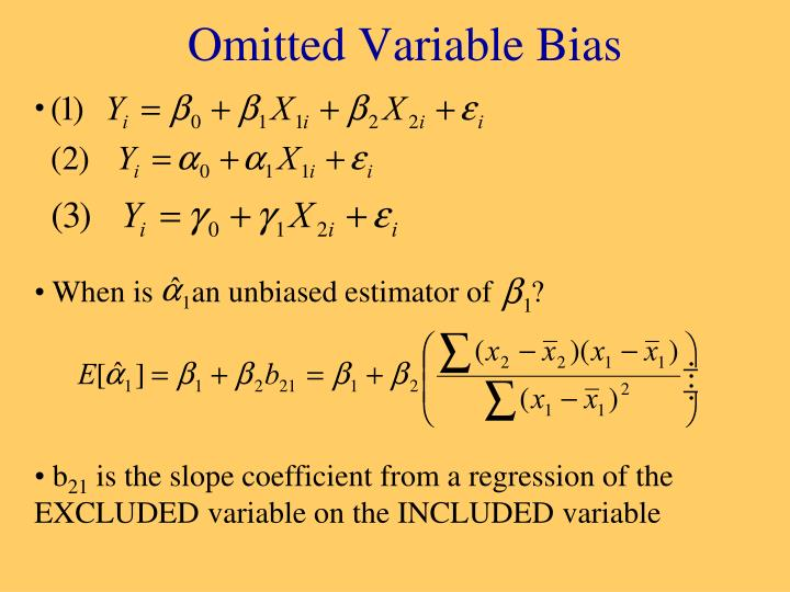When is     an unbiased estimator of     ?