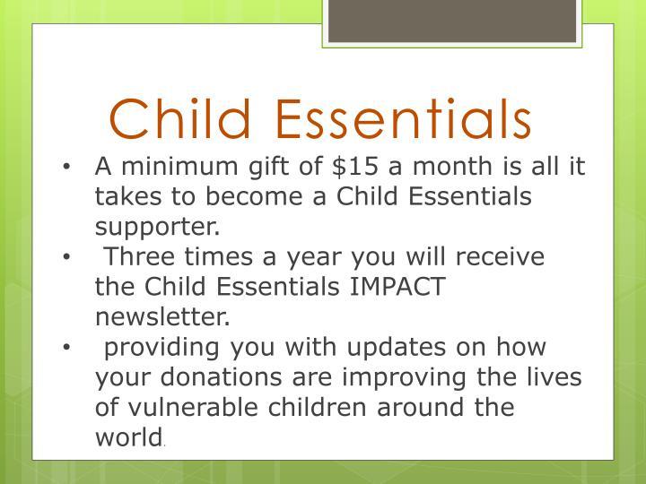 Child essentials