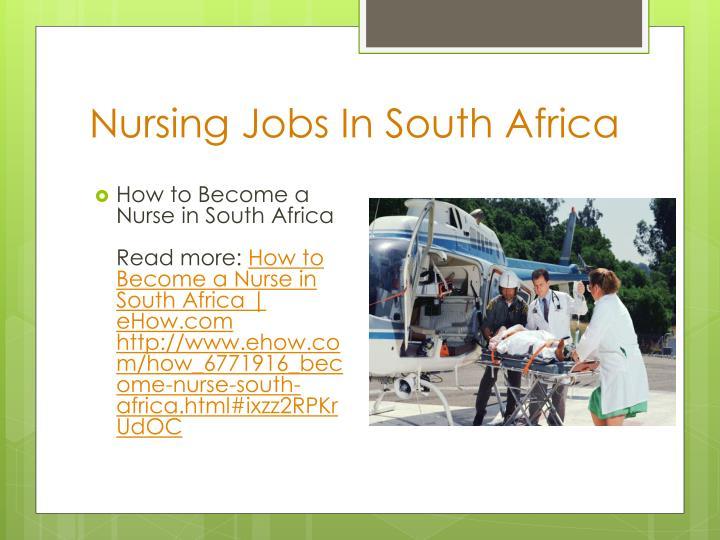 Nursing Jobs In South Africa