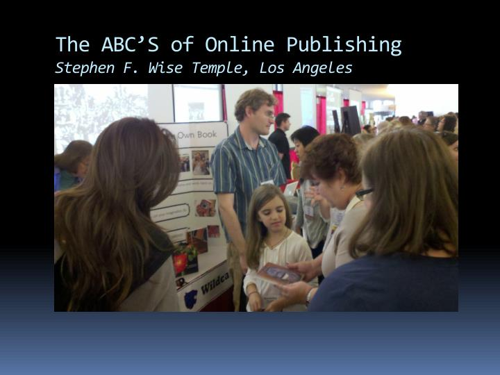 The ABC'S of Online Publishing