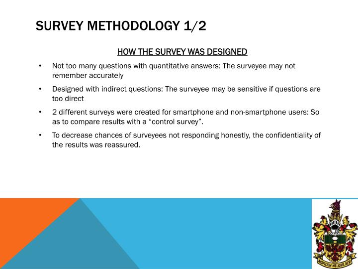 Survey methodology 1 2