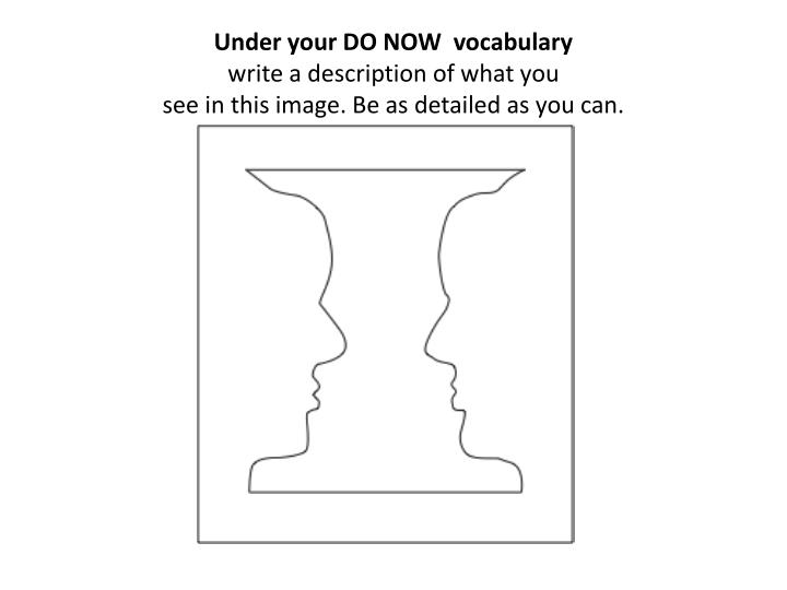 Under your DO NOW  vocabulary