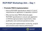 rcp rsp workshop aim day 11