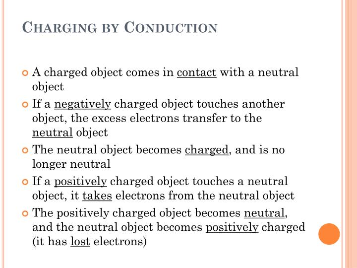 Charging by Conduction