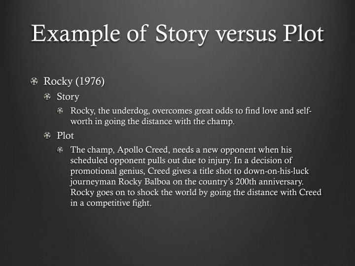 Example of Story versus Plot