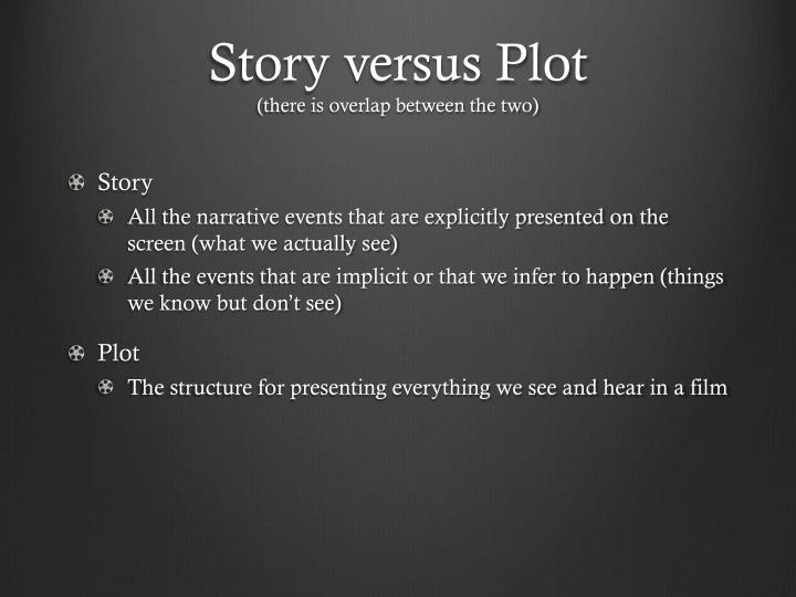 Story versus plot there is overlap between the two