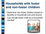 households with foster and non foster children