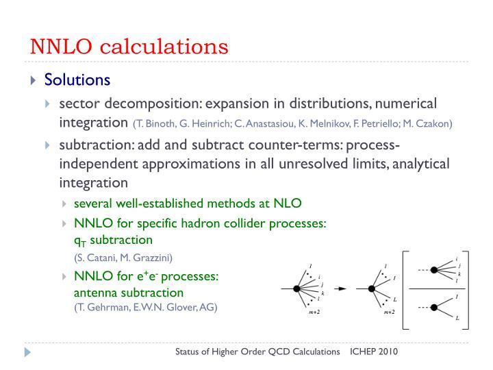 NNLO calculations
