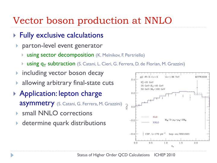 Vector boson production at NNLO