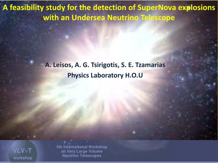 A feasibility study for the detection of