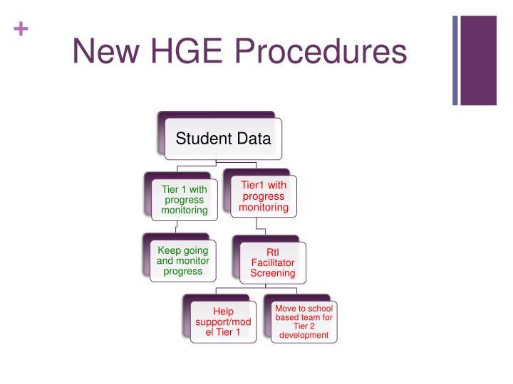 New HGE Procedures