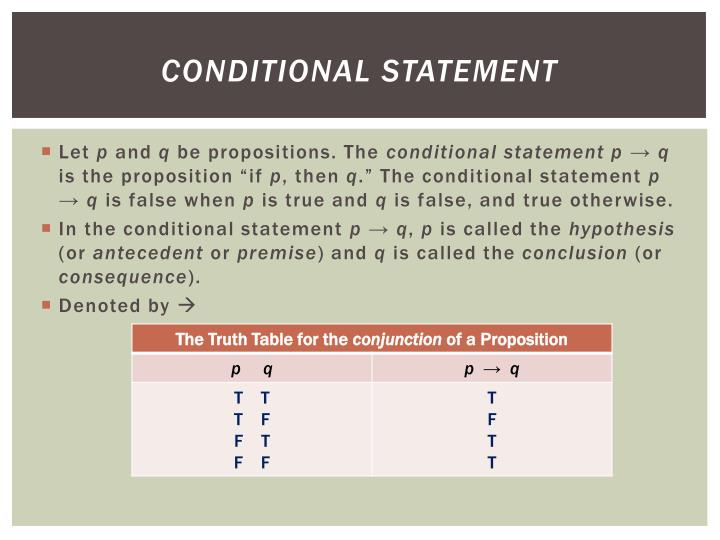 conditional statement