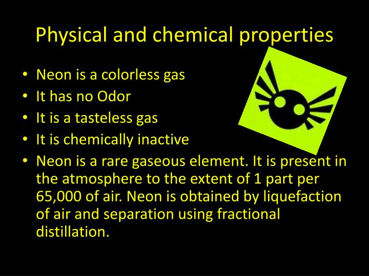 what are the chemical properties of neon