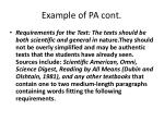 example of pa cont