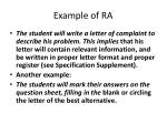 example of ra