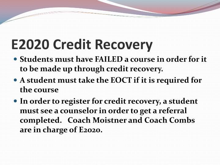 E2020 Credit Recovery